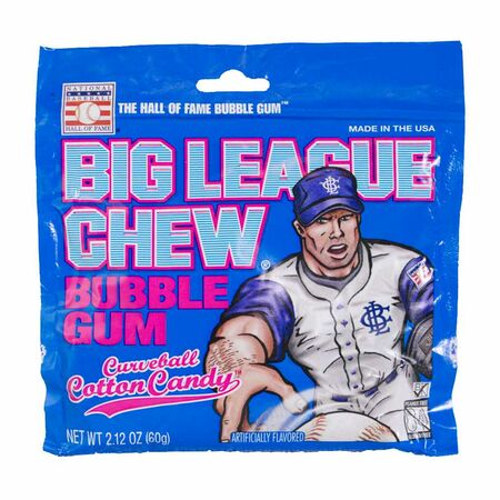 Big League Chew Bubble Gum Cotton Candy, 60g